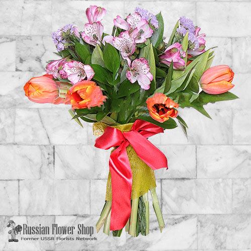Russia Spring Flower Bouquet #6