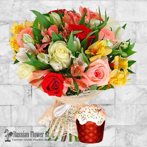 Ramo de flores de Pascua de Rusia #15