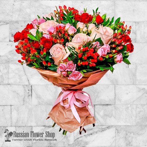 Ramo de flores de Rusia #34