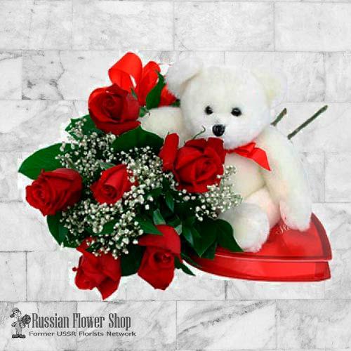 Kazakhstan Roses Bouquet #17
